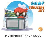cartoon vector optical shop for ... | Shutterstock .eps vector #446743996