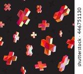vector seamless multicolor... | Shutterstock .eps vector #446751130