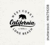 california hand written... | Shutterstock .eps vector #446754208