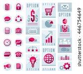 flat infographics elements  set ... | Shutterstock .eps vector #446754649