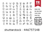 doodle style big icons set.... | Shutterstock . vector #446757148