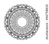 zentangle mandala for coloring... | Shutterstock .eps vector #446758810