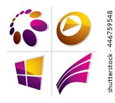 set of three dimensional... | Shutterstock .eps vector #446759548