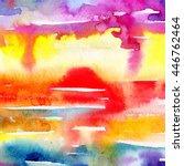 macro wash watercolor...   Shutterstock . vector #446762464