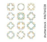 vector set of flower frames...   Shutterstock .eps vector #446764228