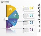 infographic report template... | Shutterstock .eps vector #446766094