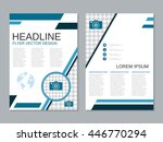 modern two sided booklet vector ...   Shutterstock .eps vector #446770294
