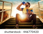 picture of a young athletic man ... | Shutterstock . vector #446770420