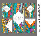 set of vector design templates. ... | Shutterstock .eps vector #446780608