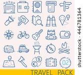 vector travel line illustration.... | Shutterstock .eps vector #446781364