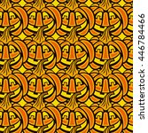 seamless pattern with jack o...   Shutterstock .eps vector #446784466