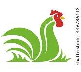leaf rooster | Shutterstock .eps vector #446786113