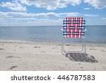 american flag chair on the... | Shutterstock . vector #446787583