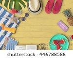vacation travel summer beach... | Shutterstock . vector #446788588