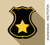 sheriff badge icon in flat... | Shutterstock . vector #446791924