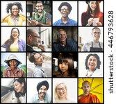 diverse ethnic diversity... | Shutterstock . vector #446793628