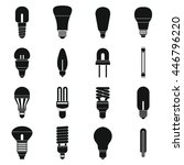light bulb icons set in simple... | Shutterstock . vector #446796220