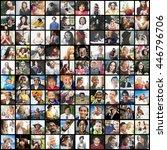 diverse ethnic diversity...   Shutterstock . vector #446796706