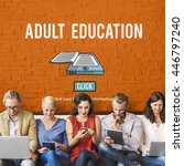 Small photo of Adult Education Advisory Age Limit Blocked Concept