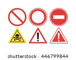 prohibition signs black icons... | Shutterstock .eps vector #446799844
