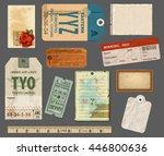 ephemera   set of vintage... | Shutterstock .eps vector #446800636