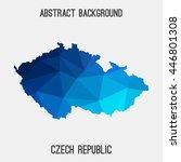 czech republic map in geometric ...   Shutterstock .eps vector #446801308