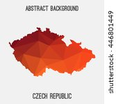 czech republic map in geometric ... | Shutterstock .eps vector #446801449