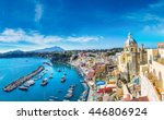 procida island in a beautiful... | Shutterstock . vector #446806924