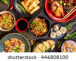assorted chinese food set.... | Shutterstock . vector #446808100