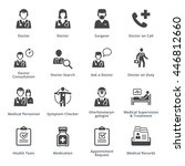 medical services icons set 3  ... | Shutterstock .eps vector #446812660