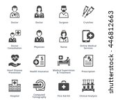 medical services icons set 4  ... | Shutterstock .eps vector #446812663
