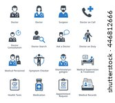 medical services icons set 3  ...   Shutterstock .eps vector #446812666