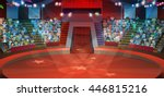 circus arena  vector background | Shutterstock .eps vector #446815216