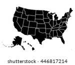blank outline map of usa | Shutterstock .eps vector #446817214
