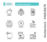 flat symbols about payment... | Shutterstock .eps vector #446818678