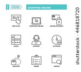 flat symbols about shopping... | Shutterstock .eps vector #446818720