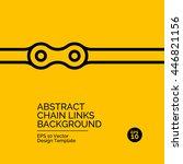 abstract flat design concept... | Shutterstock .eps vector #446821156