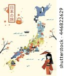 Elegant Japan Travel Map Design ...