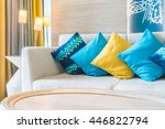 beautiful luxury pillow on sofa ... | Shutterstock . vector #446822794