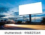blank billboard for... | Shutterstock . vector #446825164