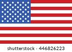 Simple Usa Flag Vector