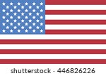 usa flag icon vector | Shutterstock .eps vector #446826226