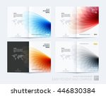 brochure template layout  cover ... | Shutterstock .eps vector #446830384