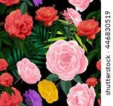 vector illustration of floral... | Shutterstock .eps vector #446830519
