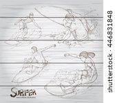 hand drawn illustration  set of ... | Shutterstock .eps vector #446831848