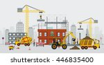 construction engineers are... | Shutterstock .eps vector #446835400