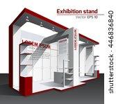 realistic vector. exhibition... | Shutterstock .eps vector #446836840