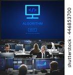 Small photo of Algorithm Data Coding Process Diagram Concept