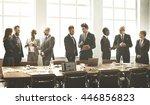 business people meeting... | Shutterstock . vector #446856823