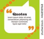 quotes design template | Shutterstock .eps vector #446858968
